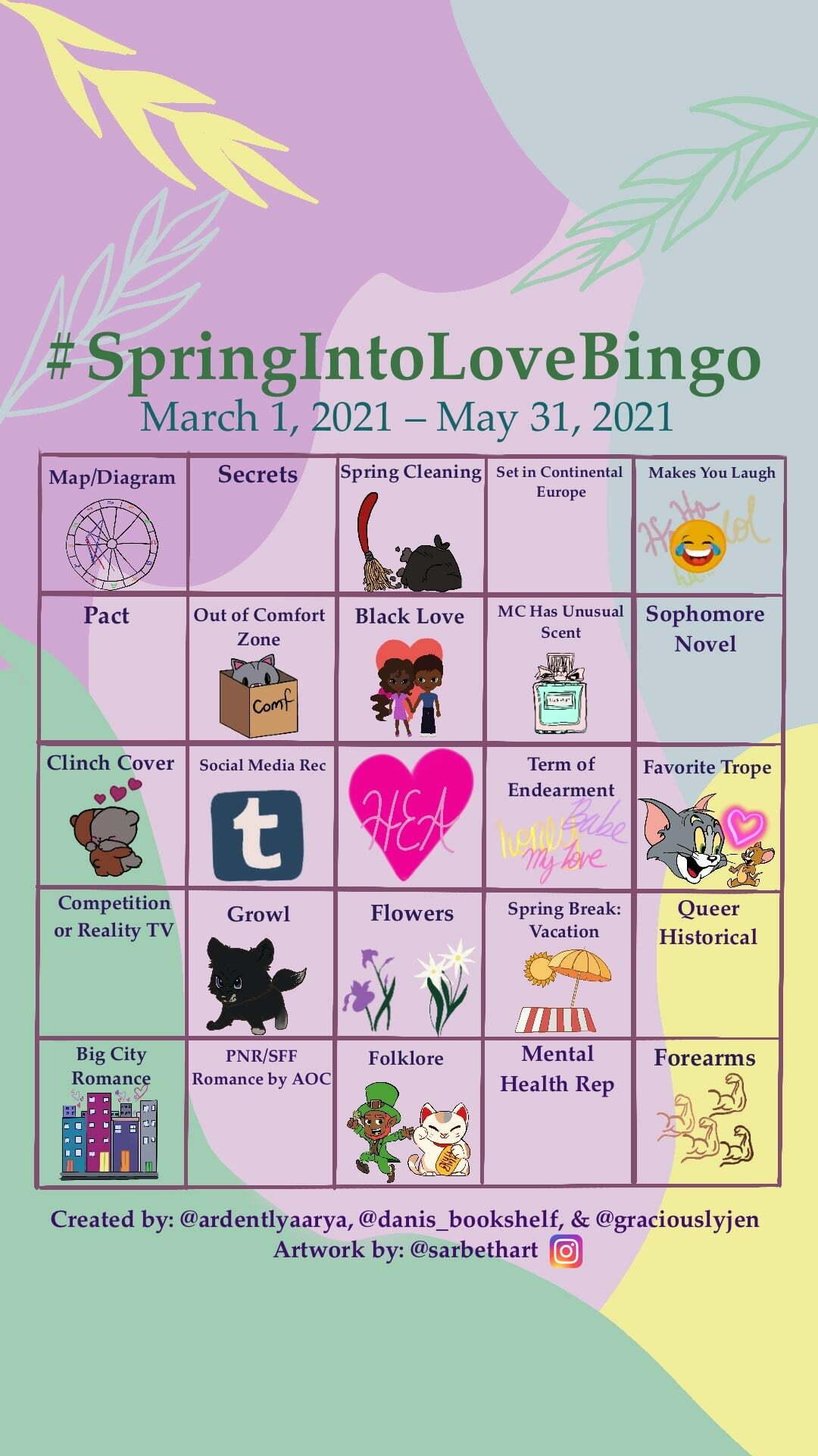 SpringIntoLove Bingo
