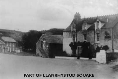 Early photo of Black Lion Hotel & Llanrhystud Square