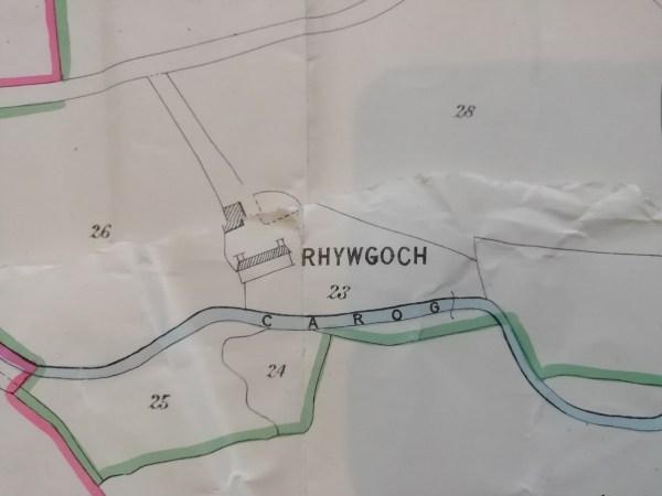 Rhiwgoch Farm 1884 map