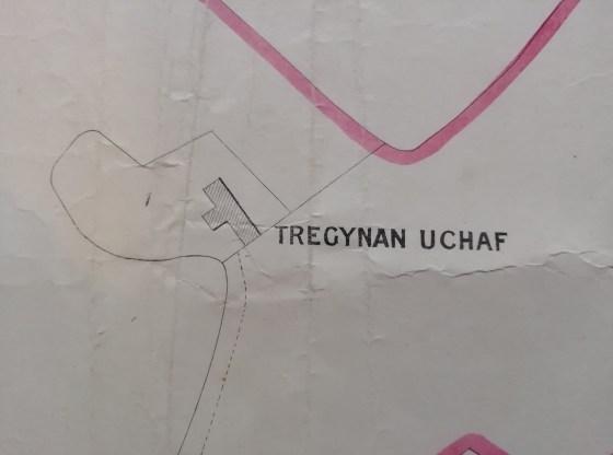 Tregynan Uchaf Farm 1884 map