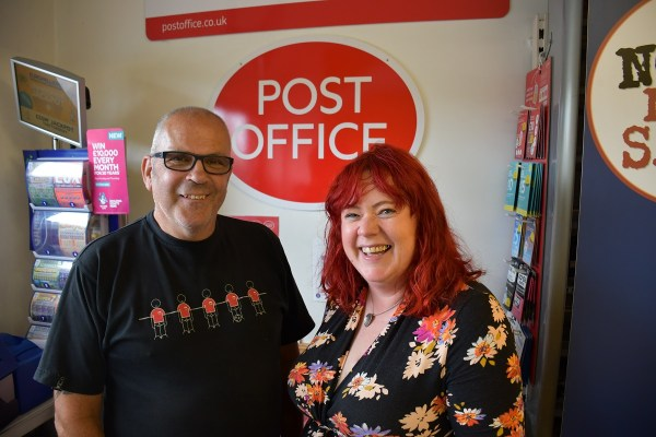 Martin and Bethan Jenkins new owners of Llanrhystud PO and Stores