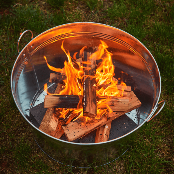 Build a backyard fire pit. In three minutes!