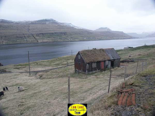 A typical tradional Faroe Islands house