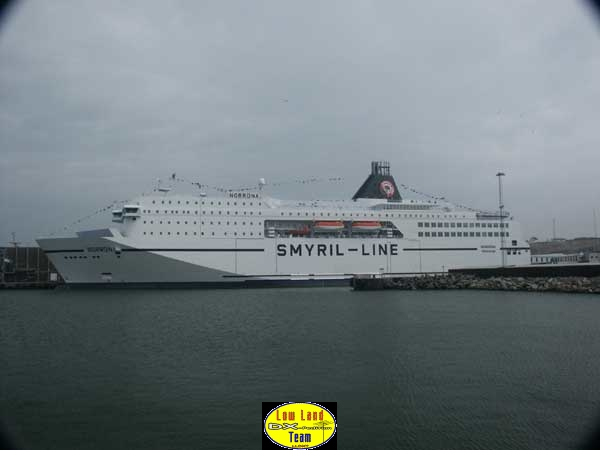 The new Ferry which took us from the Faroe Islands to Denmark