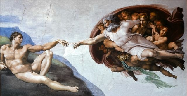 pintura de miguel angel capilla sixtina en Roma