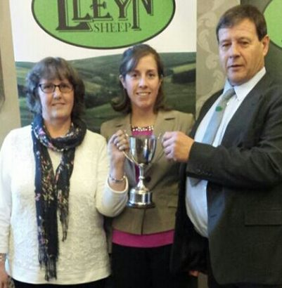 Amanda & Graham Fort FLOCK 1299 with daughter Beverley   recieve joint flock champion 2015 5 x running-1-1