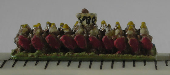 Line of 2mm scale legionaries.