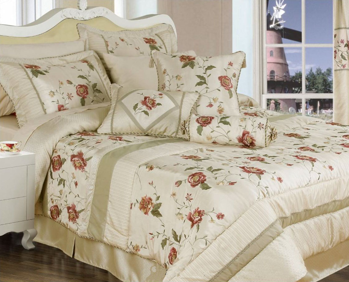 Gardenia Cream Bedspread Duvet Cover Valance And Curtains