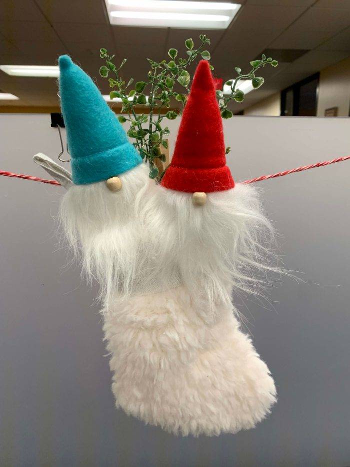 Gnome stocking, Christmas