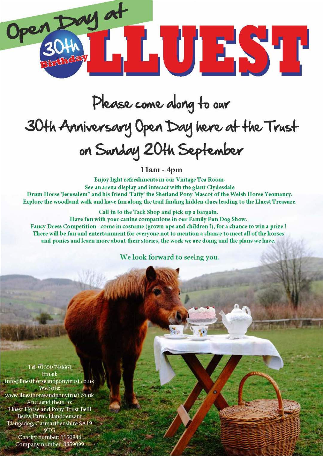 Lluest's 30th Anniversary Open Day