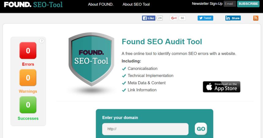 Herramientas de análisis SEO: Found SEO