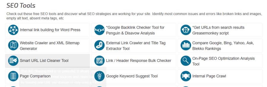 Herramientas de posicionamientos web: SEOChat Tools