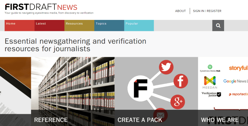 FirstDraftNews: sitiioi web siobre verification y cuarto poder