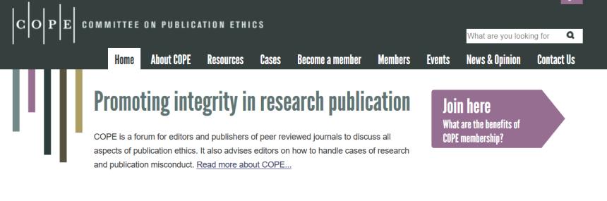 sitio dedicado a la ética sobre  la publicación de artículos científicos