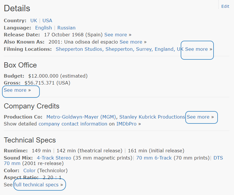 Ficha de IMDB