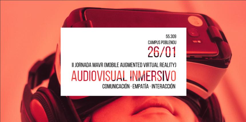 Cartel de la Jornada Audiovisual Inmersivo 2017