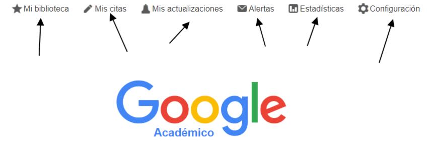 Google Académico: página principal