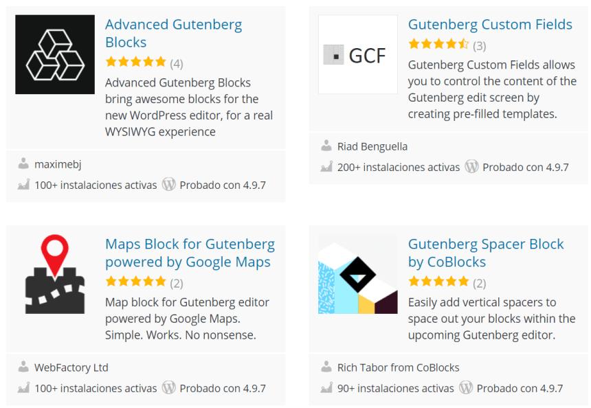 Plugins de WordPress para Gutenberg