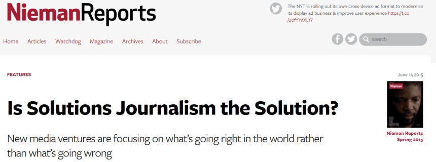 Nieman Reports Solutions Journalism