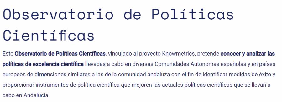 Observatorio de políticas científicas