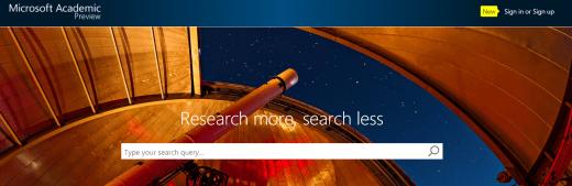 Microsoft Academic - sitio web
