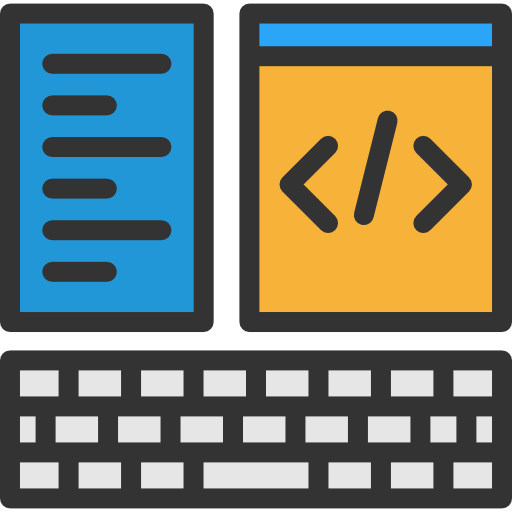 La creación de contenidos  web ilustrado con iconos