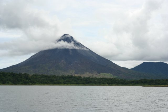 The volcano as seen from Lake Arenal