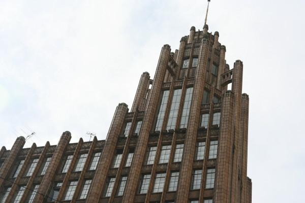 Modeled after Chicago's Tribune Tower
