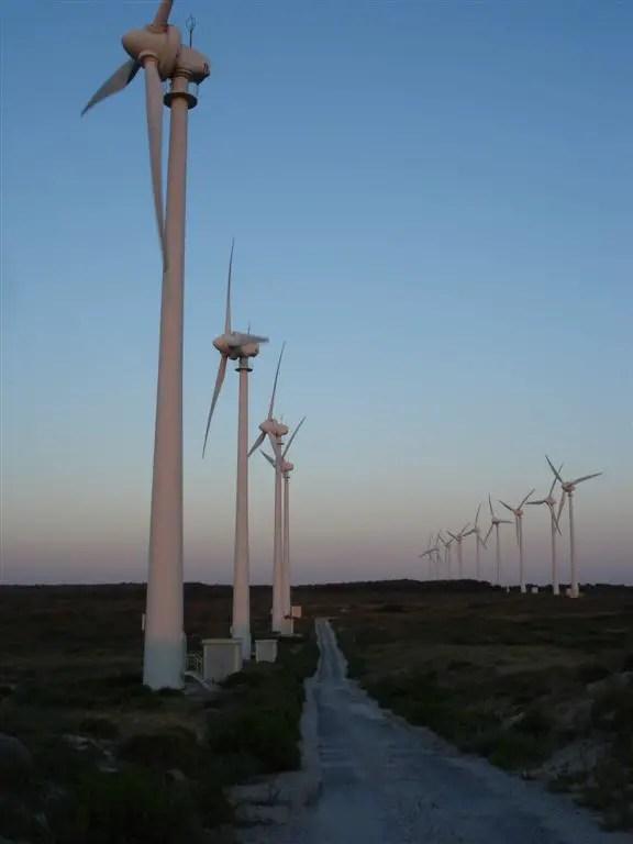 Sunset at Windfarm