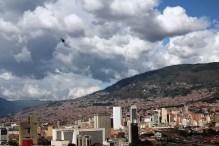 Helicopter above Medellin