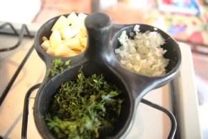 Cilantro, onion, cheese