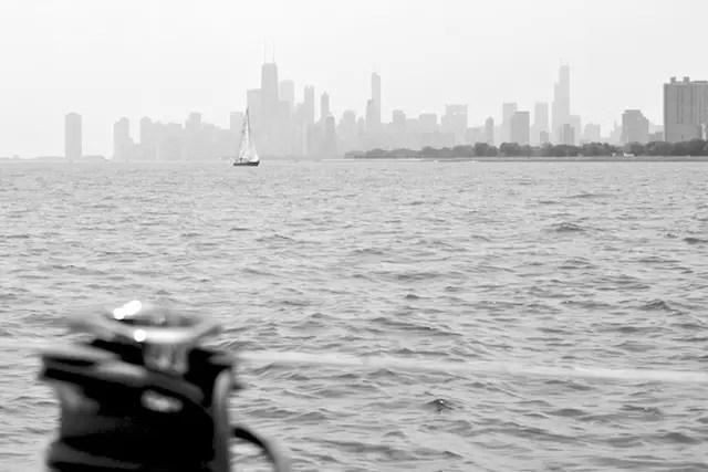 Sailing on Lake Michigan