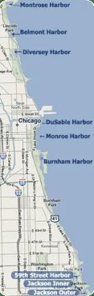 Chicago harbor map