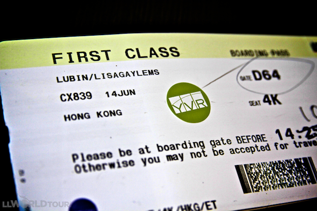 First Class on Cathay Pacific