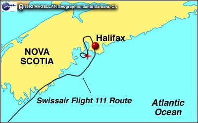 swissair 111 route map