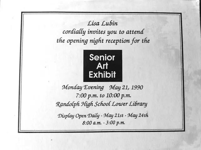 Senior Art Exhibit Invite