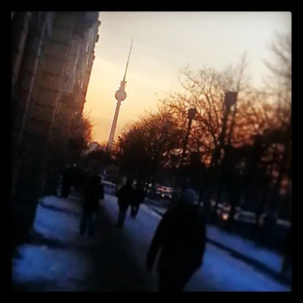 Sunset over Frankfurter Alle