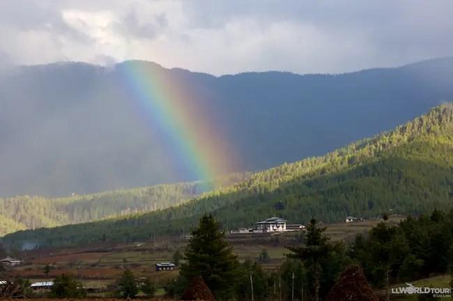 Rainbow to Happiness in Bhutan