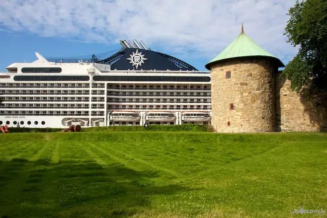 Oslo Cruise Ship & Castle
