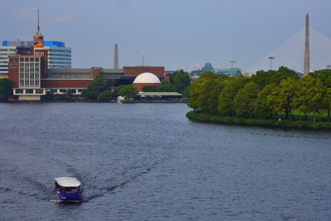 The Museum of Science sits prettily along the Charles River