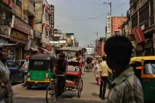 A typical Delhi street scene