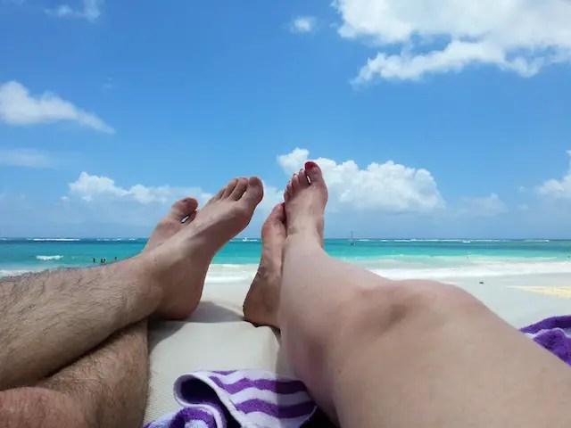 Feet at the Beach in Punta Cana