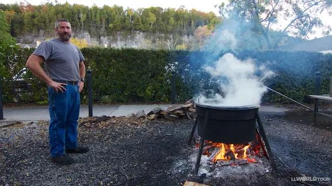 My midwest visit door county for Fish boil door county