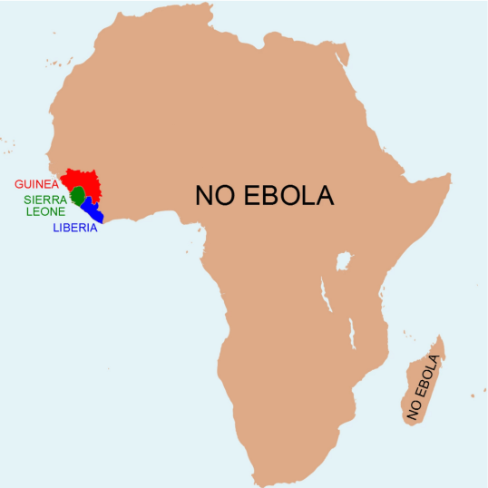 Ebola Map (Anthony England : @EbolaPhone)