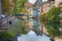 Medieval reflections in the Ill River