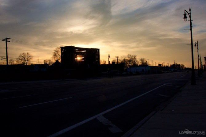 Michigan Central Station at Sunset