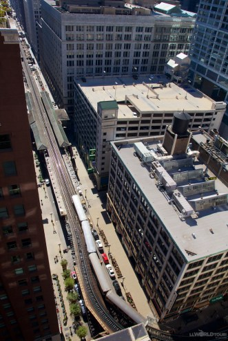 View from Rooftop of Brown Line train
