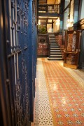 Gorgeous tile floor and metal gridwork