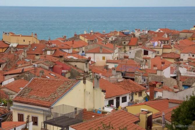 Piran Slovenia rooftops