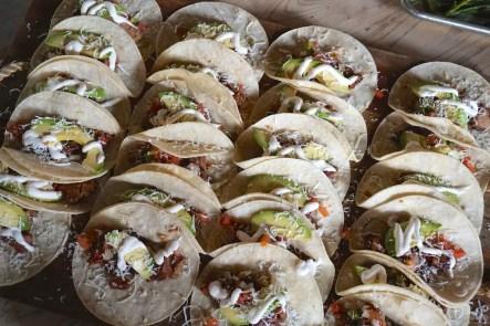 Brisket tacos at Loflin Yard